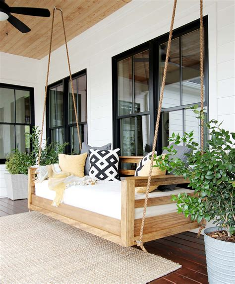 How To Build A Porch Swing From An Old Bed