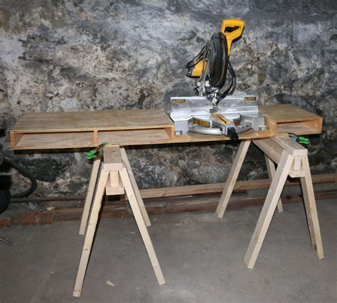 How To Build A Portable Miter Saw Table