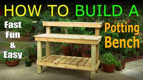 How To Build A Potting Bench Plans Youtube