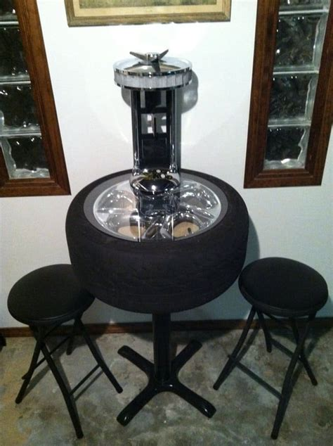 How To Build A Pub Table Out Of Car Wheels