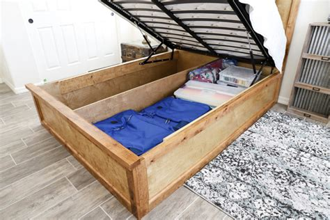 How To Build A Queen Size Storage Bed Frame