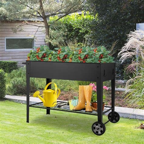 How To Build A Raised Bed Garden Box On Wheels