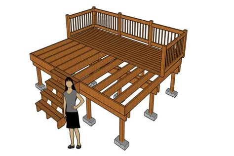 How To Build A Raised Deck Without Digging Holes