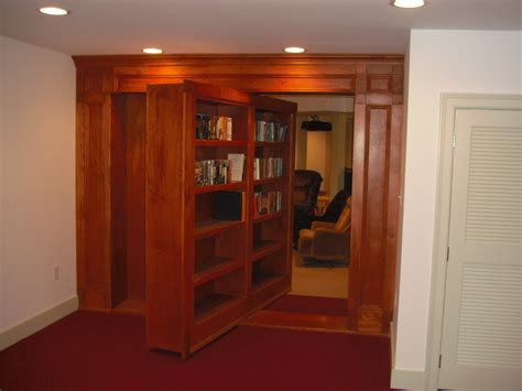 How To Build A Revolving Bookcase Door