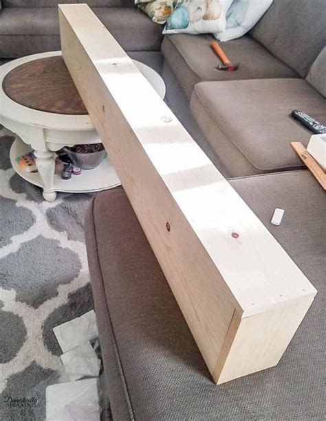 How To Build A Rustic Wood Mantel