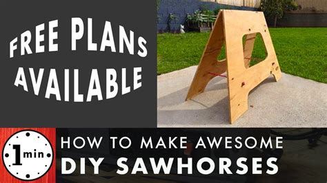 How To Build A Sawhorse Youtube To Mp4