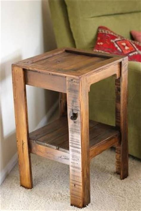 How To Build A Side Table With Storage