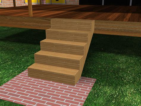 How To Build A Single Wood Step Off Deck