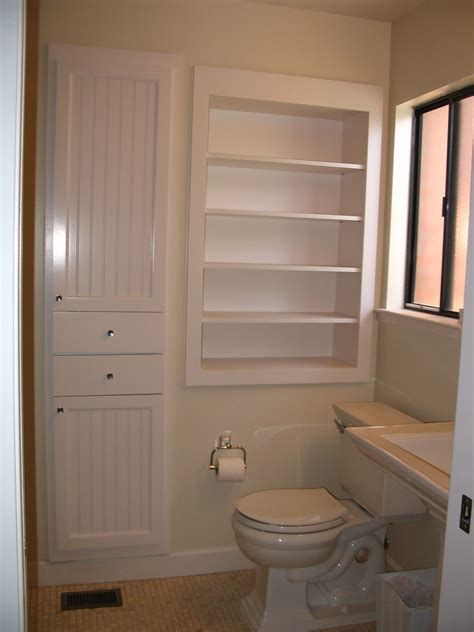 How To Build A Small Storage Cabinet Between Wall And Shower
