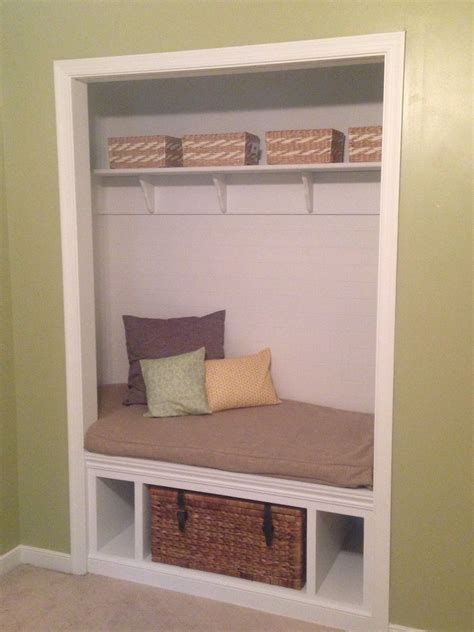 How To Build A Storage Bench In Closet