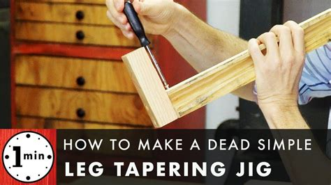 How To Build A Table Leg Taper Jig Video