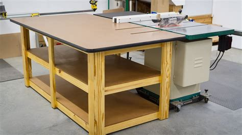 How To Build A Table Saw Outfeed Table Video
