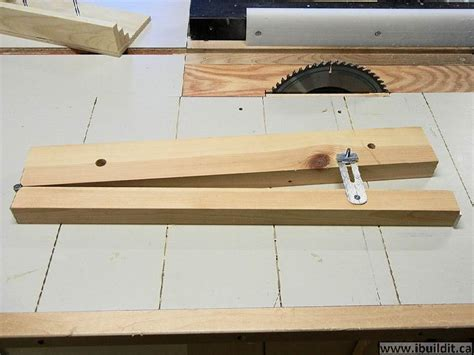 How To Build A Table Saw Tapering Jig