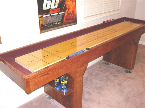 How To Build A Tabletop Shuffleboard Game