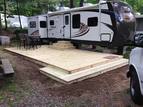 How To Build A Travel Trailer Deck