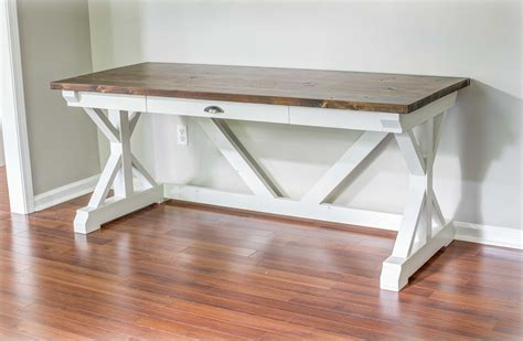 How To Build A Trestle Desk With Drawer
