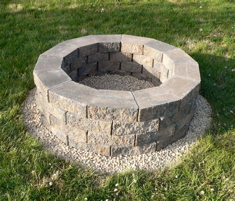 How To Build A Wall Block Fire Pit