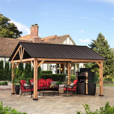 How To Build A Wood Awning 12 Ft X 21 Ft