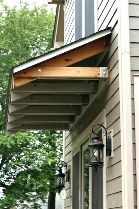 How To Build A Wood Awning Over A Window