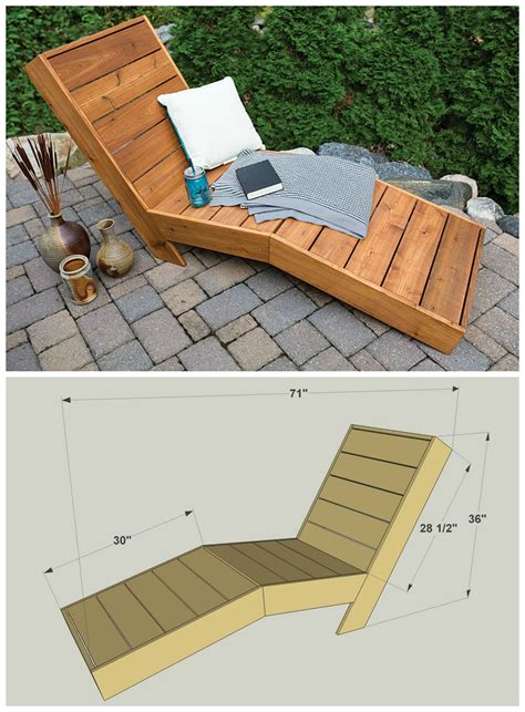 How To Build A Wood Chaise Lounge Free Plans