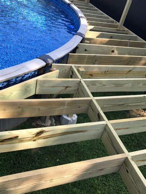 How To Build A Wood Deck Around An Above Ground Pool