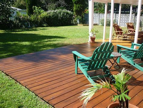 How To Build A Wood Deck Flush With The Ground