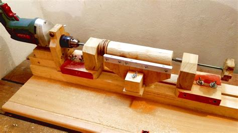 How To Build A Wood Lathe Wirh A 1 2 Drill