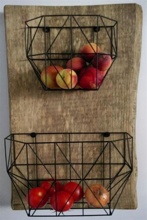 How To Build A Wood Wall Mounted Fruit Basket