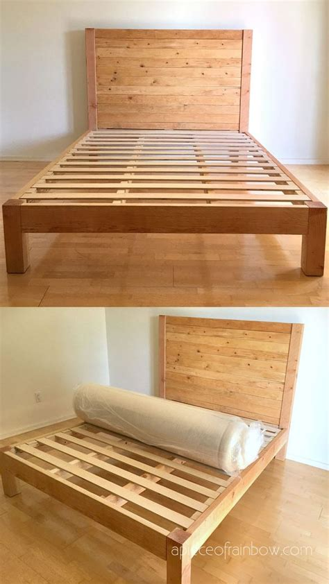 How To Build A Wooden Bed Frame And Headboard