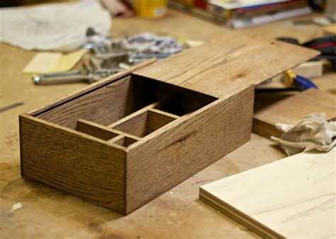 How To Build A Wooden Box With Sliding Lid