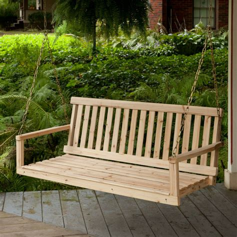 How To Build A Wooden Hanging Porch Swing