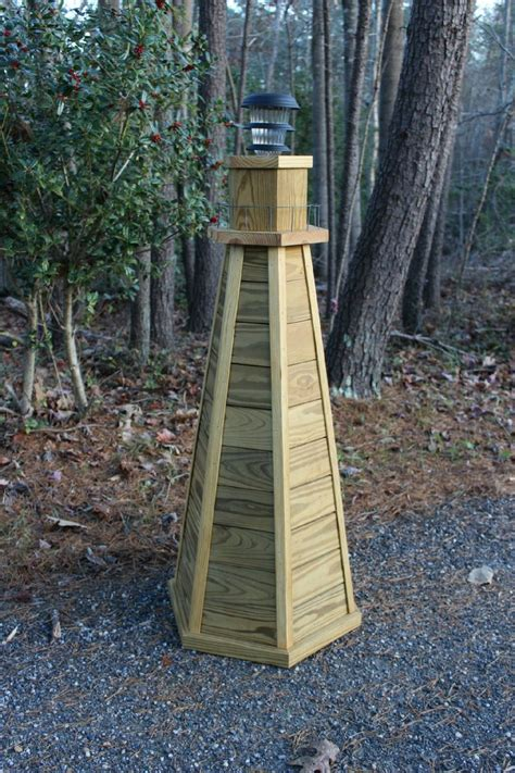 How To Build A Wooden Lighthouse For The Yard