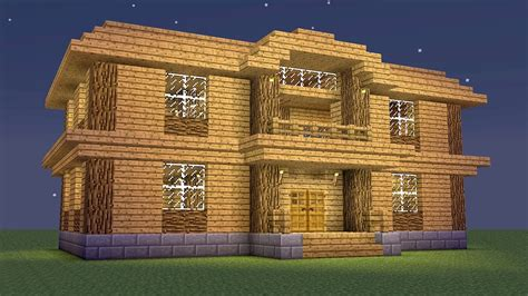 How To Build A Wooden Mansion On Minecraft