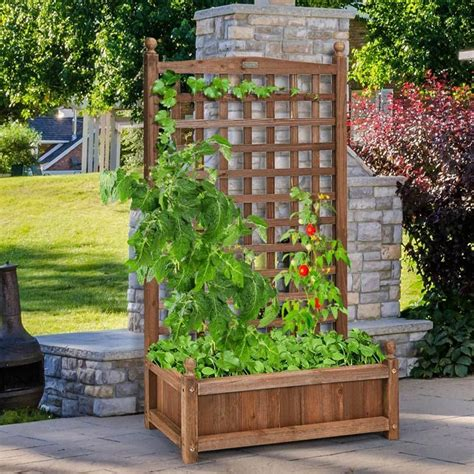 How To Build A Wooden Planter Box With Privacy Screen