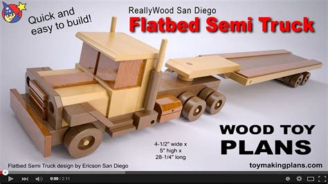 How To Build A Wooden Semi Truck Plans