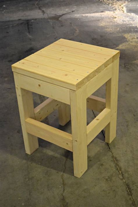 How To Build A Wooden Shop Stool