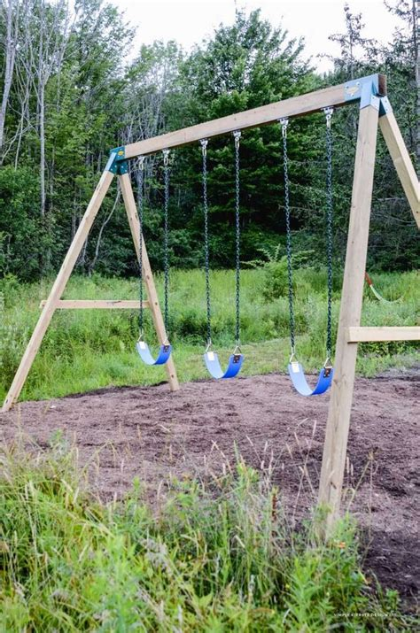 How To Build A Wooden Swing Set Video