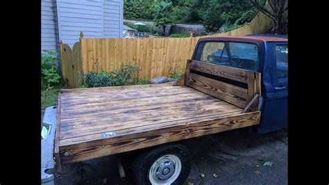 How To Build A Wooden Truck Bed