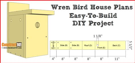 How To Build A Wren Birdhouse Free Plans