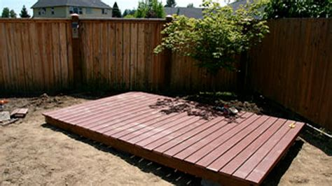 How To Build A Yard Deck
