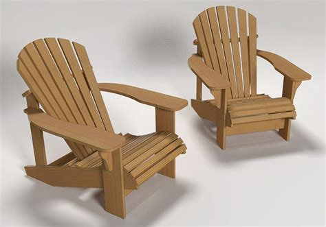 How To Build An Adirondack Chair In Sketchup