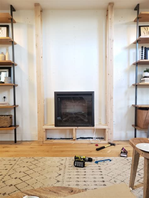 How To Build An Electric Fireplace Into A Wall