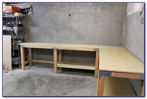 How To Build An L Shaped Workbench Attached To Wall