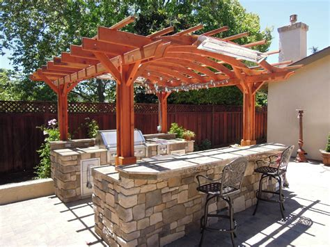 How To Build An Outdoor Kitchen Pergola