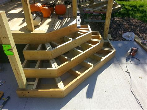 How To Build Angled Stairs On A Deck