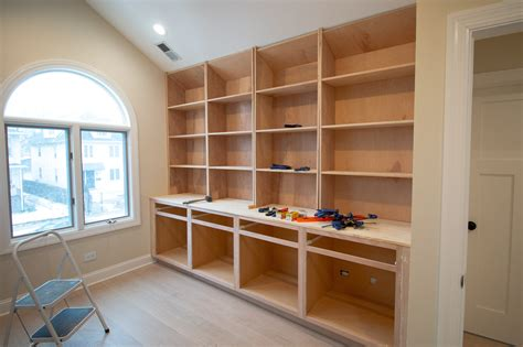 How To Build Built In Bookshelves And Desk