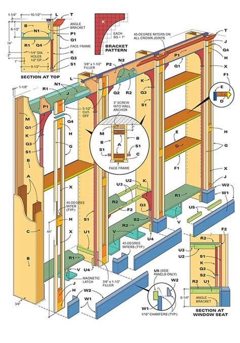 How To Build Built in Bookcases Plans