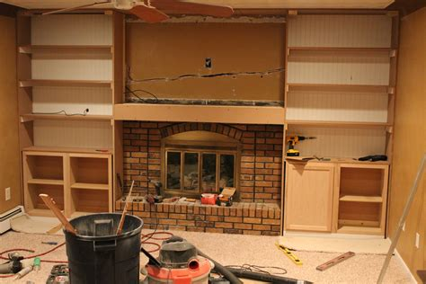 How To Build Cabinets Around Fireplace