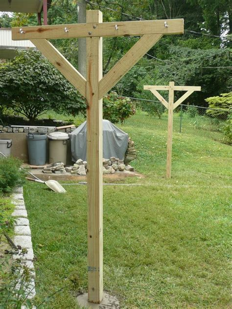 How To Build Clothesline Post