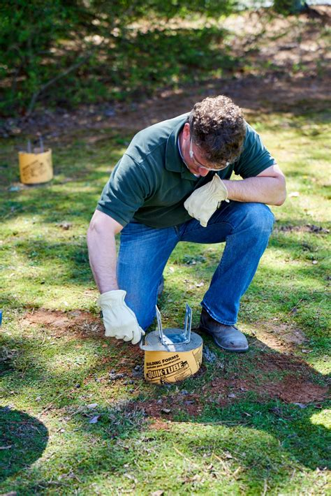 How To Build Deck Footings With Quikrete Products